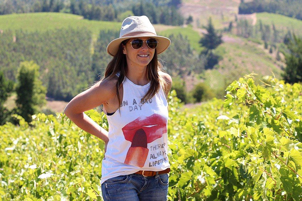 Andrea in the Itata Valley