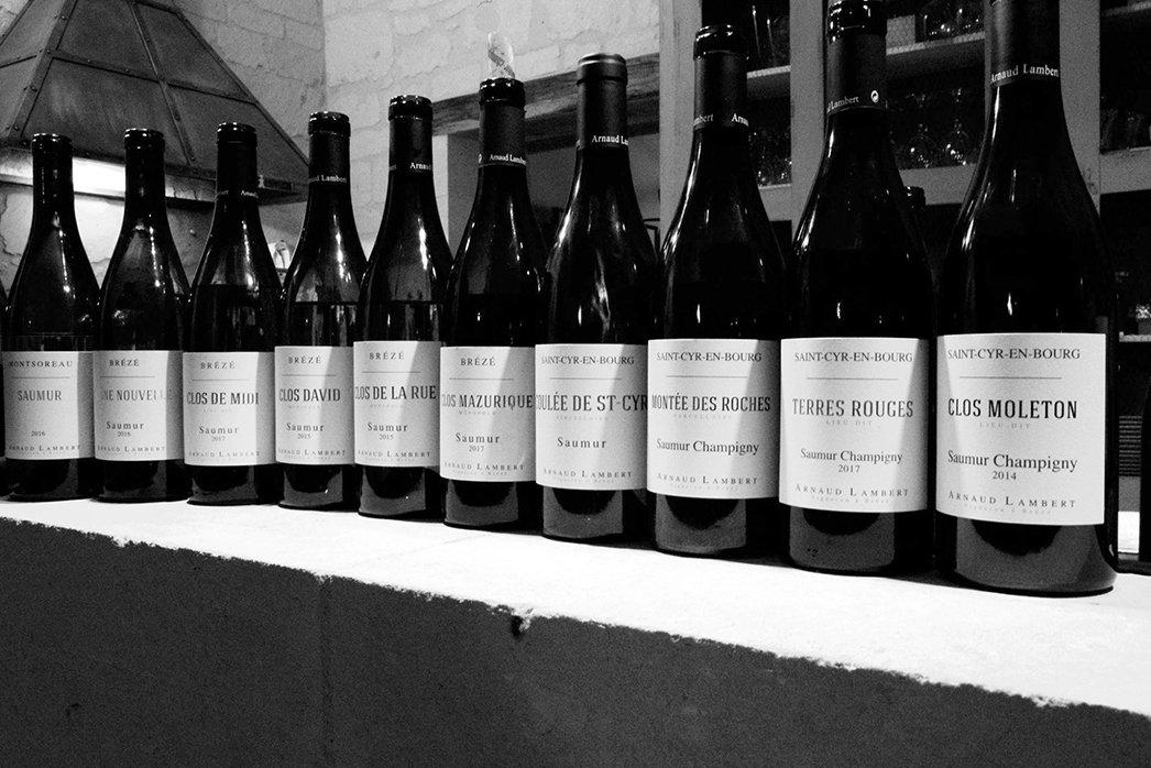 Arnauld Lambert wines lineup
